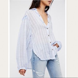 NWT Free People Headed To The Highlights Blouse
